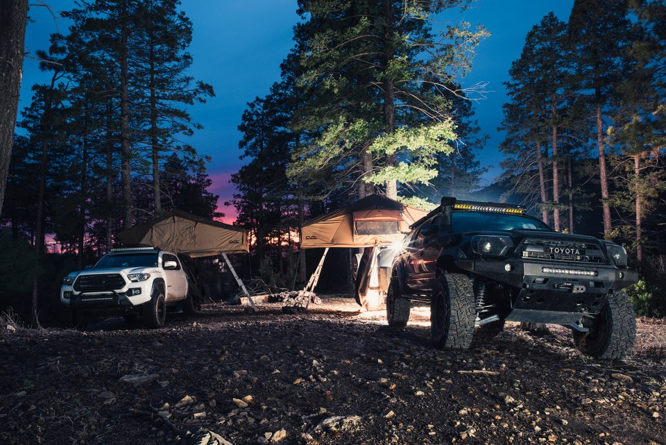 Rotiform SIX-OR defconbrix on some adventure toyota tacoma cvt rooftop tent