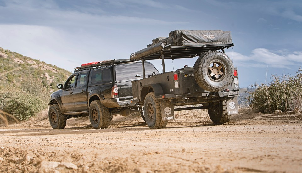 Rotiform SIX-OR defconbrix on some adventure toyota tacoma xventure offroad trailer cvt rooftop tent wilco