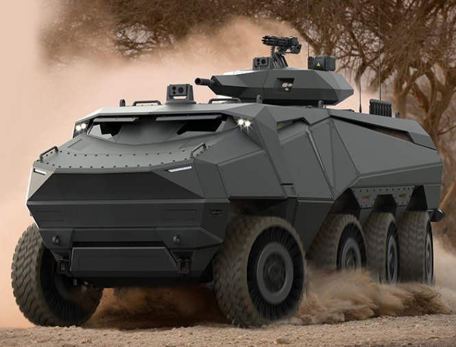 Russian Army Btr 82a Wheeled Armoured Vehicle Personnel Carrier Stock Photo