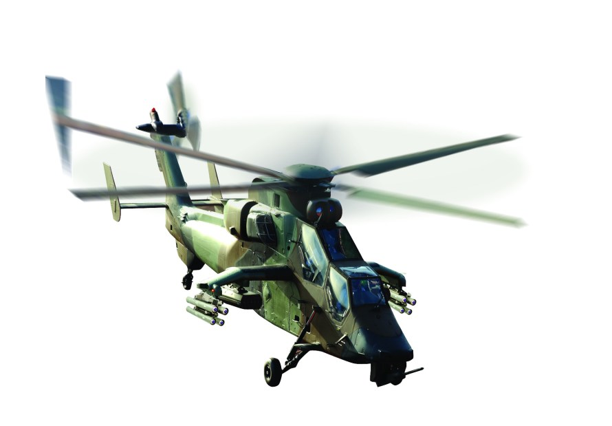 A Spike missile on Airbus Helicopter's Tiger gunship.