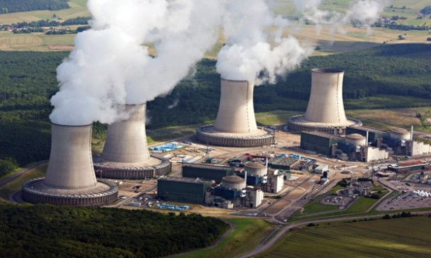 Aerial view of Cattenom nuclear power plant, one of the French plants targeted by unknown drones