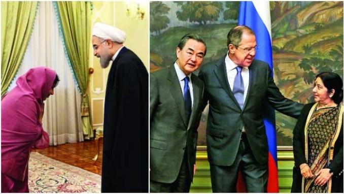 sushma swaraj iran russia