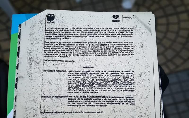 Adoptan resolución 1190 en Nariño