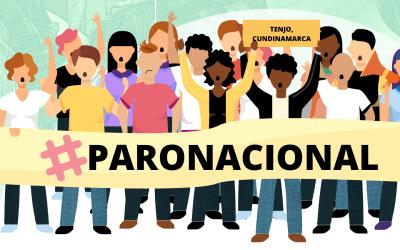 En el municipio de Tenjo manifestantes están siendo agredidos: #ParoNacional