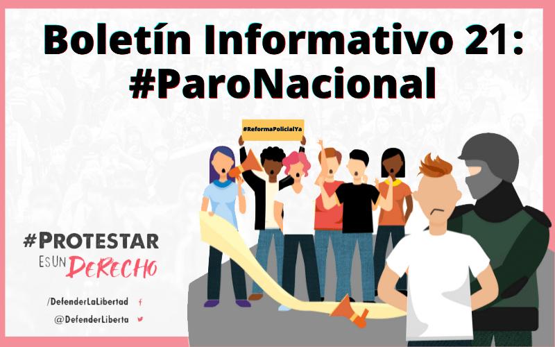 BOLETÍN INFORMATIVO NACIONAL 21: #PARONACIONAL