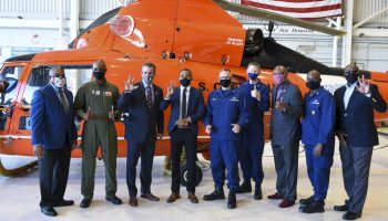 TSU student Derrick Hudson receives surprise U.S. Coast Guard commission