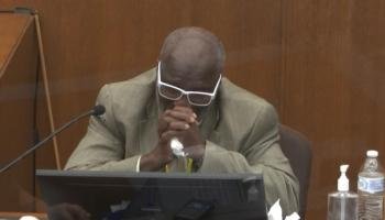 Witness who tried to aid George Floyd breaks down while testifying