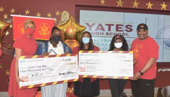 Photo Gallery: Journalist Roland Martin delivers scholarships to Yates HS students