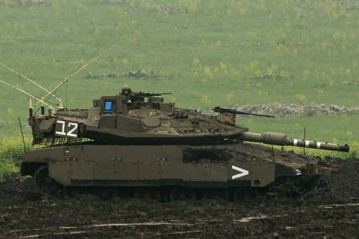 Merkava Mk4M with Trophy APS. Photo: Noam Eshel