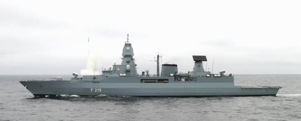 F219 Sachsen, the lead F124 class frigate german navy