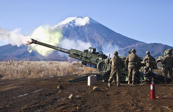 M777 at Camp Fuji, Japan