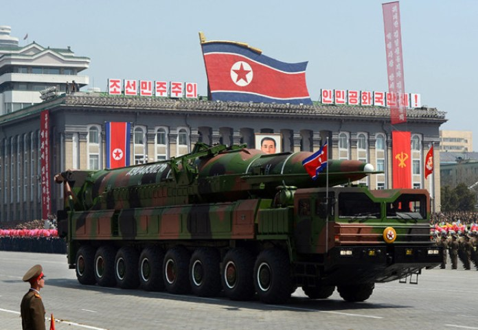 The KN-08 Limited Range Intercontinental Ballistic Missile (LR-ICBM) developed by North Korea. Photo: Getty Images