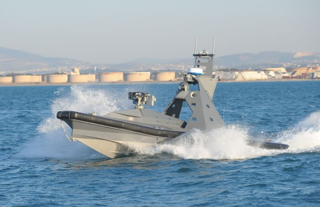 Rafael has developed two versions of Protector USVs. The nine meter version is currently operational while the later 11 meter version is undergoing seat trials. Photo: RAFAEL