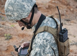 PNR-1000A network radio and the Raptor computing device are the two main elements of Elbit Systems' new Dominator II LD optimized for squad-level C2. The gross weight of the system is 2.2 pounds - less than one kilogram. Photo: Elbit Systems