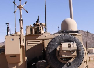 WIN-T Increment 2 gear tested on an M-ATV during the Network Integration Evaluation exercise, 2011.