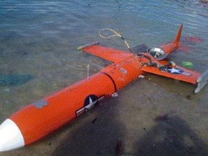 A suspected American BQM-74E target drone is brought ashore off Masbate Island in Central Philippines.