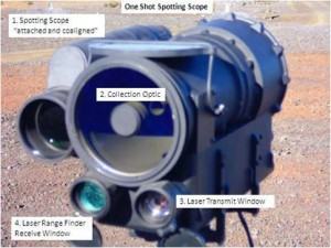 The initial OneShot system was designed to be operated by the spotter, assisting multiple snipers with more accurate ballistic solutions. Photo: via DARPA