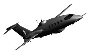 A concept view of the new Piaggio Aero MPA - maiden flight of the first prototype is planned for 2014.