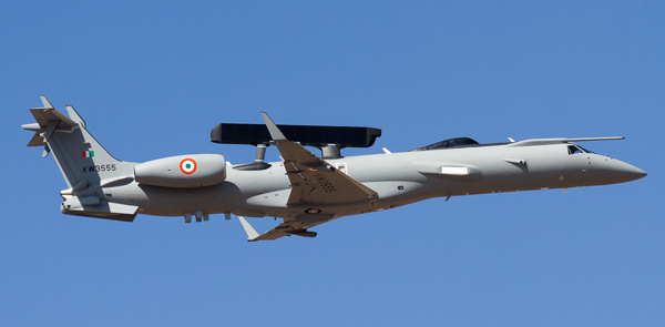The Indian Air Force First Embraer 145 AEW&C Aircraft. Credit: Angad Singh