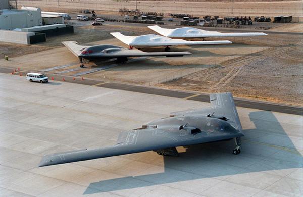 B-2 on runway preparing for takeoff. Photo: Northrop Grumman