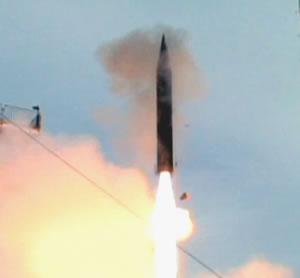 Arrow-3 launched on its first exoatmospheric test flight today. Photo: IMOD
