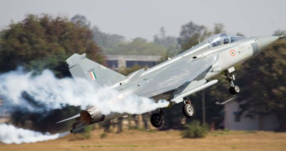 LCA taking off on display flight at Aero India 2013. Photo: Angad Singh