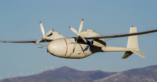 Boeing's liquid hydrogen-powered Phantom Eye unmanned airborne system completed its second flight Feb. 25. Photo: Boeing