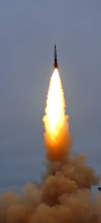 Aster-30 missile launched as part of a SAMP / T missile defense test. Photo: MBDA