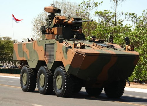 The Brazilian Army has already inducted over 86 VBTP-MR GUARANI 6x6 APCs armed with remote weapon station under the URUTU-3 modernisation programme to replace their EE-11 URUTU by 2015.