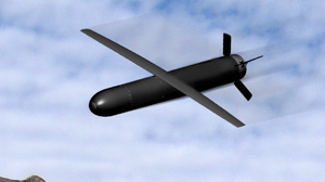 The Nemesis weapon as modelled by Lockheed Martin.