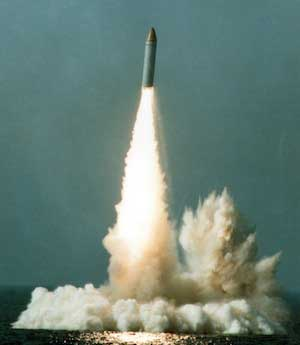 The first sea launch of the M51 SLBM. The missile is produced by EADS' Astrium division for the French Navy Strategic Force. Photo: EADS