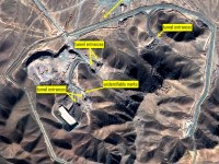The target: Iranian uranium enrichment deeply burried underground site at Fordow. Photo: