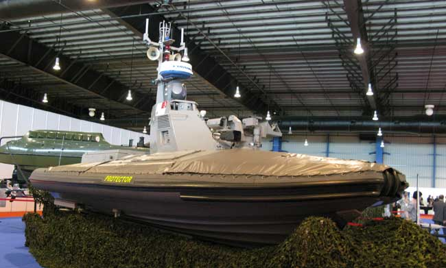 The Protector Unmanned Surface Vessel was the first USV used by the Singapore Navy.
