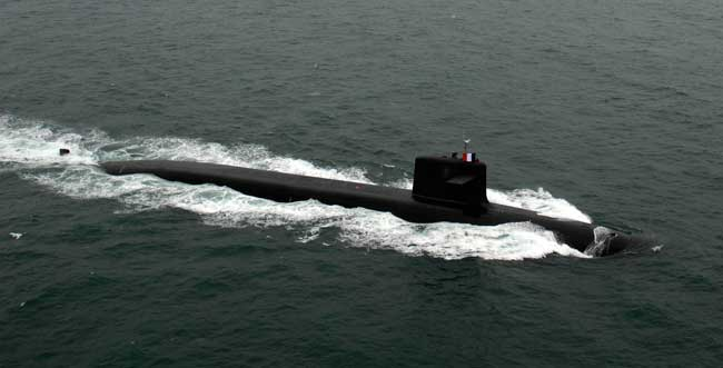 Vigilant is a  Triumphant class nuclear powered ballistic missile submarine (SSBN) built by DCSN the submarine was commissioned in 2004. Photo: DCSN