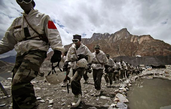 Indian soldiers at the Siachen base camp. In 2012 the Indian finance ministry killed an Indian Army plan to  raise a mountain strike corps, citing the huge financial commitment involved.