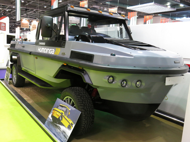 Gibbs has made its 'amphitruck' international debut with ST Kinetics, with which Gibbs is negotiating a co-production contract, which will see STK producing the 20 foot amphibious truck in Singapore. A 30 foot model will follow soon after the first will enter production.