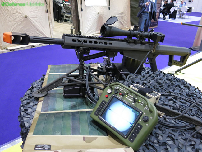 This remote control kit controls a long range sniper rifle from via cable, using battery pack recharged by solar panel, the unit sustained an unlimited mission cycle, supporting snipers on extended missions, enabling the sniper team to monitor their weapons and observation gear from a remote, safe position.