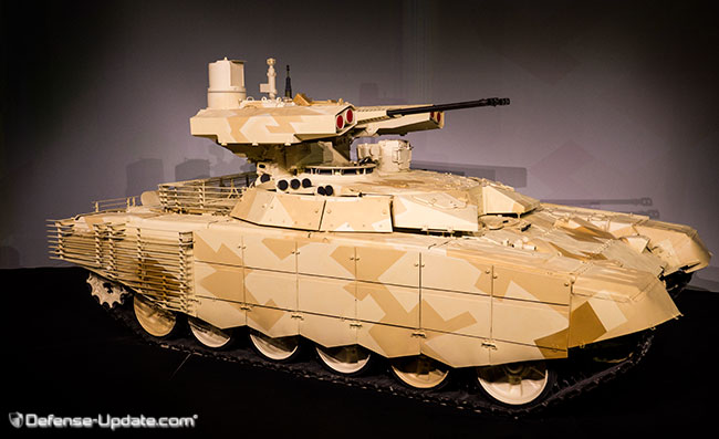 The new BMPT72 (also dubbed Terminator 2) combat support vehicle. Photo: Noam Eshel, Defense-Update