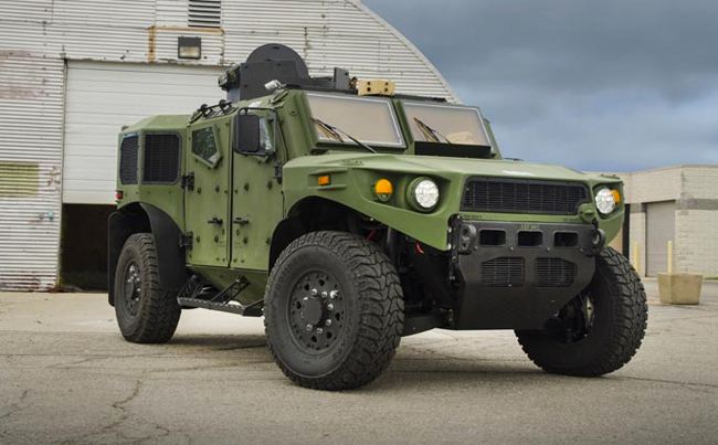 A 3/4 front view of the ULV. Photo via TARDEC
