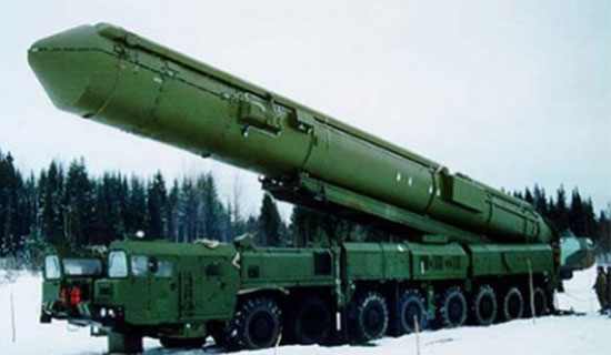 The largest mobile ICBM in Russian service is the SS-29 Yars, which uses an eight-axle transporter erector launcher (TEL) for mobilization. The new R-36 will require a size axle TEL.