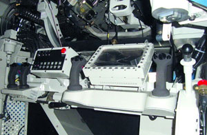 The Spike LR control unit integrated into the Rosomak turret weapon station. Photo:  e-Raport