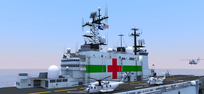 COH plans to retrofit the vessel to support state-of-the-art hospital facilities and medical staff, as well as transport first-responders and supplies on a large-scale. The retrofitted USS Nassau's unique command and control, heavy airlift and amphibious landing craft capabilities will make it faster and more efficient than any humanitarian assistance and disaster-relief vessel in the world.
