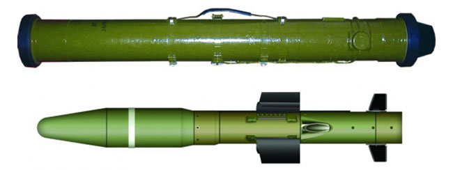 Corsar guided missile and container. Photo: LUCH