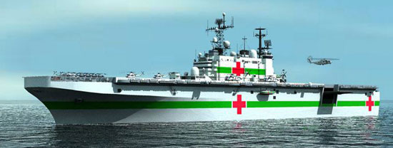 COH to reconfigure the former USS Nassau, as a multi-purpose humanitarian / disaster-relief vessel (HADRV)