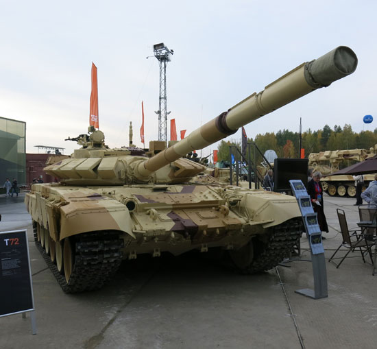 T72B1 displayed at the recent RAE 2013 arms exhibition at Nizhny Tagil. Photo: Noam Eshel, Defense-Update
