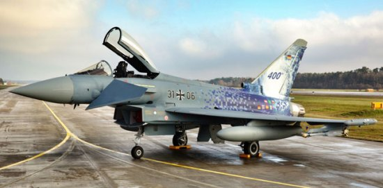 400th Typhoon delivered to the German Air Force, December 4th 2013 at Manching, Bavaria. Photo: Andreas-Zeitler, via Eurofighter