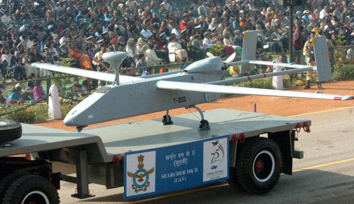 The Indian Air Force displayed this Searcher II during the military display of 2007. While India is one of the world's largest operators of Drones, photos of Indian drones rarely appear in the media.