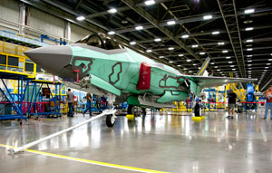 The 100th F-35 rolls out of the Fort Worth, Texas, factory in September 2013. Photo: Lockheed Martin