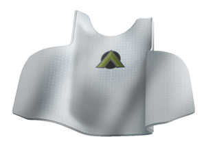 Alpha Elite is the first implementation of Dyneema's Force Multiplier armor in a body armor system. The thin, lightweight material can be moulded in complex curved shapes for maximum comfort. Photo: Point Blank
