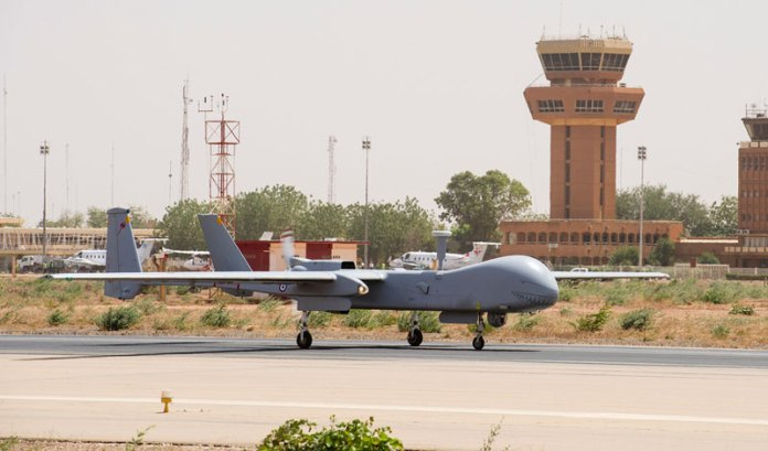 French Harfang (Heron I) operating with from the Niamey airport in Niger. Photo: French Air Force